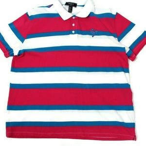 Forever 21 Mens Polo Striped Size XL